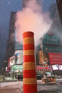 Steam & snow in NYC